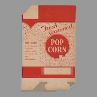 "Unused Vintage Popcorn Box - ""Fresh Seasoned""  1930's - 1940's"