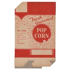 """Unused Vintage Popcorn Box - """"Fresh Seasoned""""  1930's - 1940's"""