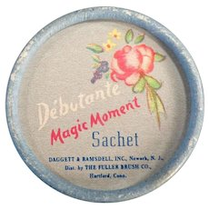 Vintage 1950's Fuller Brush Debutante Magic Moment Sachet Powder Box