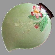 Vintage Carlton Ware Leaf Dish with Pink Flower – Made in England, Australian Design