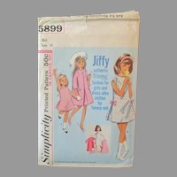 Vintage #5899 Simplicity Jiffy Pattern – Authentic Tammy Doll Fashion for Girl AND Doll