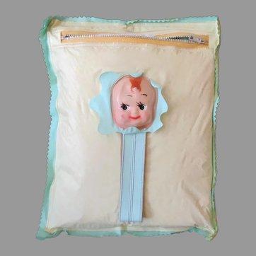 Vintage Baby Bottle Holder, Diaper Bag & Changing Pad – Vinyl & Celluloid