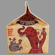 Vintage Pet Milk Advertising Milk Carton Bank with Brownies and Toys