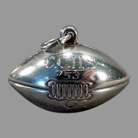 Vintage Sterling Silver Football Charm – C.C.H.S. 1953