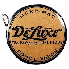 Vintage Celluloid Advertising Tape Measure for Merrimac DeLuxe Bedsprings