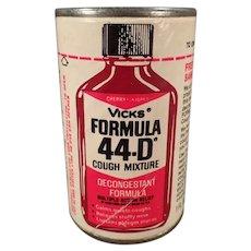 Vintage Medical Sample - Vicks Cough Syrup Package