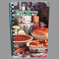 Old Recipe Book - Home and Garden Party Cookbook – Lots of Fun Recipes