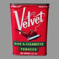 Vintage Vertical Pocket Tobacco Tin - Velvet Pipe and Cigarette Tobacco