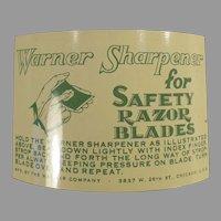 Vintage Warner 1-2-3 Safety Razor Blade Sharpener with Packaging