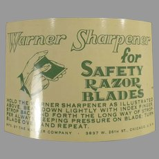 Vintage Warner 1-2-3 Safety Razor Blade Sharpener with Packaging