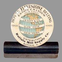 Vintage Celluloid Advertising Clip - Hoyt's Flintstone Belting Company
