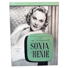 Vintage Sonja Henie Hollywood Ice Revue 1940 Program