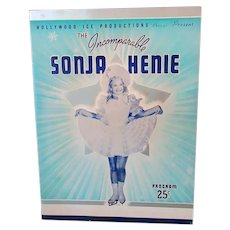 Vintage Sonja Henie Hollywood Ice Revue 1939 Program