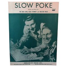 Vintage Sheet Music – 1951 Slow Poke