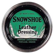 Vintage Snowshoe Brand Leather Dressing Tin - Portland, Oregon