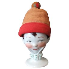 Vintage Goebel Poached Egg Cup – Boy with Cloth Cozy Hat
