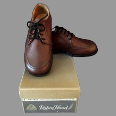 Vintage Boy's Shoes - Robin Hood Team Mate  - Brown Shoe Co. - Original Box