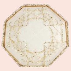 2 Vintage Hankies - Sheer Handkerchiefs with Gold Trim in Original Packaging