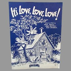 Vintage Sheet Music – It's Love, Love, Love – Cute Graphics