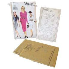 Vintage Vogue #9340 Uncut Dress, Top & Skirt Pattern Size 8-10-12