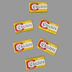 Six Vintage Adams Chiclets – Yellow Boxes