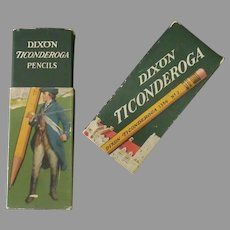 Vintage Dixon Ticonderoga Cardboard Pencil Box
