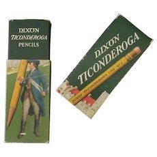 Vintage Dixon Ticonderoga Cardboard Pencil Box