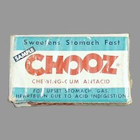 Vintage Medicine Sample Box - Chooz Antacid Gum Box