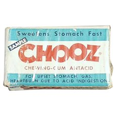 Vintage Medicine Sample Box - Chooz Antacid Gum Box
