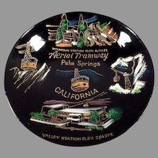 Vintage Palm Springs Aerial Tramway Souvenir -Old Laquerware Snack Bowl
