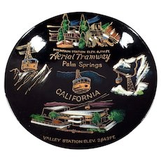 Vintage Palm Springs Aerial Tramway Souvenir -Old Laquerware Snack Bowl