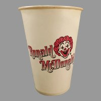 Vintage 1960's Ronald Mc Donald Dixie Cup – Old McDonald's Advertising