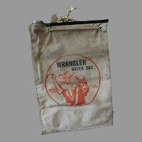 Vintage Water Bag - Wrangler with Cowboy and Horse Graphics