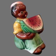Vintage Black Memorabilia - Boy and Watermelon Salt & Pepper – Large Set
