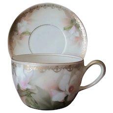 Vintage German Reinhold Schlegelmilch Tillowitz R.S. Cup & Saucer - Floral