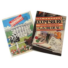 Two G.B. Trudeau Doonesbury Comic Strip Paperback Books – 1980's