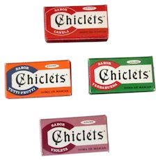 Four Vintage Adams Chiclets – 4 Different Flavors