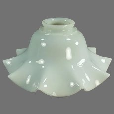 Vintage Fluted Milk Glass Light Fixture Shade - Single Shade - Very Pretty