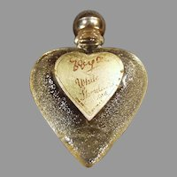 Vintage White Shoulders Sample Perfume - Little Heart Bottle with Original Label