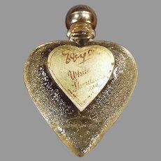 Vintage White Shoulders Sample Perfume - Little Heart Bottle with Original Label