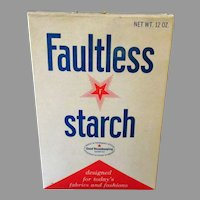 Vintage 1960's Faultless Starch Box - Old Unopened Kitchen/Laundry Advertising Item