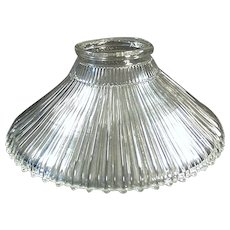 Single 1905 Vintage Light Fixture Shade - Franklin, Reflector Style