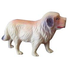 Vintage Miniature U.S.A. Celluloid Toy Dog Figure – Possibly St. Bernard