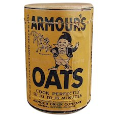 Vintage Sample Oat Box - 4 inch Armour's Oat Cereal Box with Elf Graphics