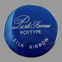 Vintage Typewritter Ribbon Tin - Park Avenue Roytype Silk Ribbon Tin