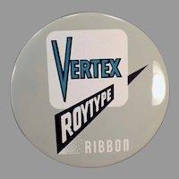 Vintage Vertex Typewritter Ribbon Tin - Vertex Roytype Royal Typewriter Co