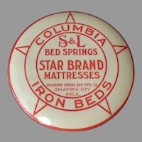 Vintage Celluloid Clothes Brush - Iron Beds, Springs & Mattresses - Oklahoma Advertising
