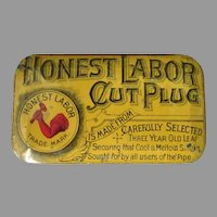 Vintage Tobacco Tin - Honest Labor Cut Plug - Nice Condition