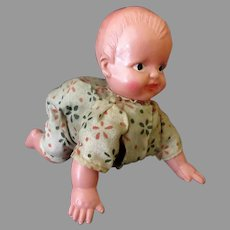 Vintage O.J. Celluloid Crawling Baby Doll – Occupied Japan Celluloid Wind Up Doll