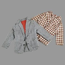 Vintage Doll Clothes  - Two Casual Sport Jackets for Mattel's Ken Doll